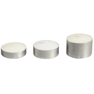 Aoyin Merek Aluminium Cup White Tea Light Candle